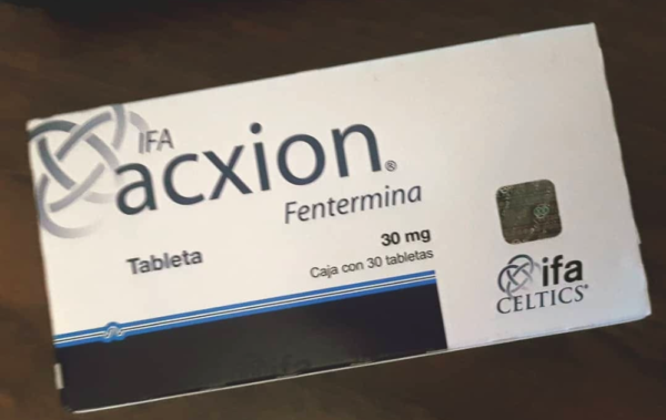 Brand Name: Acxion Fentermina Ingredient: Phentermine Manufacturer : Celtics Dosage: 30mg Form: Capsules Packaging: Pack of 30 capsules